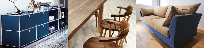 USM、高山ウッドワークスなど、永く使える家具を揃えております。