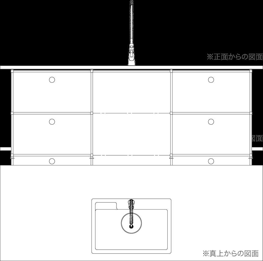 ステンレス天板タイプの図面