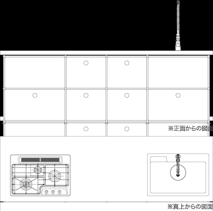 ステンレス天板(特注)タイプの図面