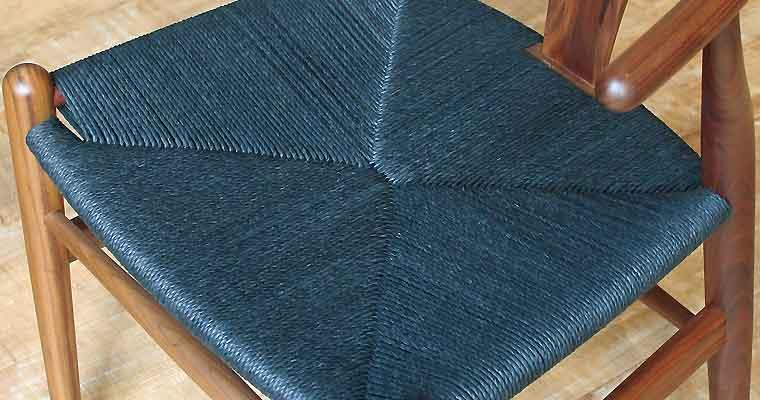 ブラックペーパーコードの座面の様子